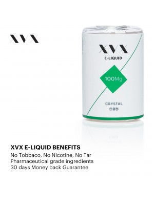 XVX CBD E Liquid / Crystal / 100mg / 5 Pack
