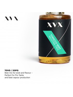 Tobacco Mint Flavour / XVX E Liquid / 0mg