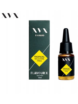 Tropical Flavour / Peach & Mango / Flavour X / XVX E Liquid / 0mg