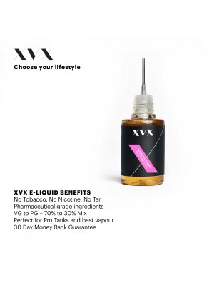 Bubblegum Mint Flavour / XVX E Liquid / 0mg